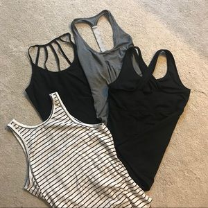 4 cute workout/tank tops -priced to sell as bundle